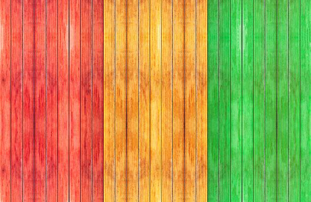 reggae Farben und Holzboden Hintergrund – Foto