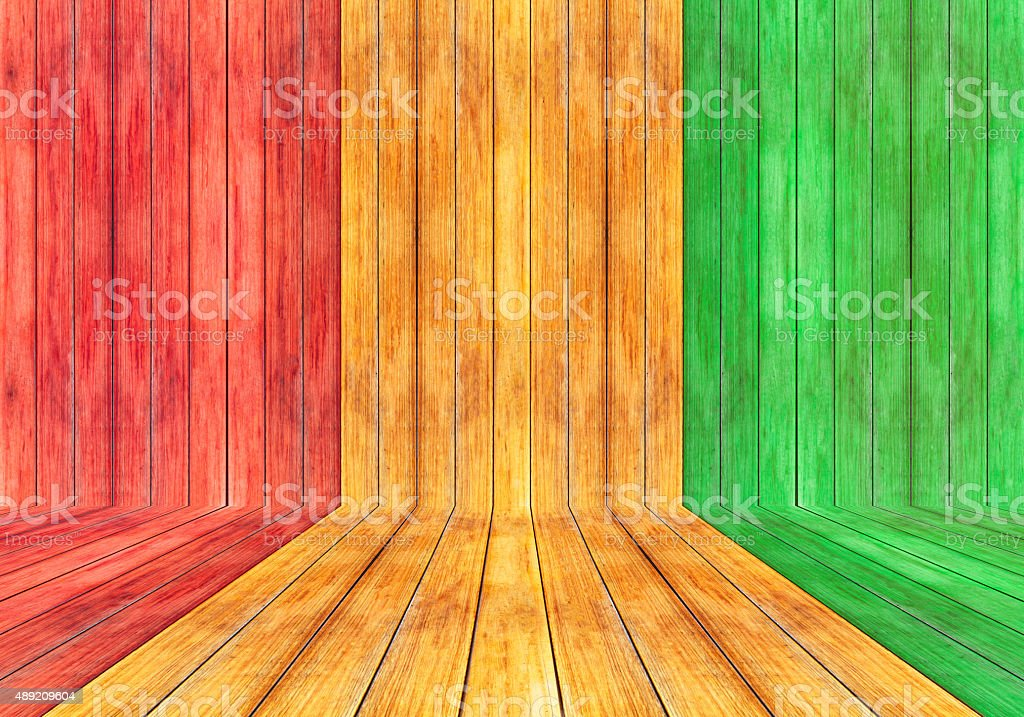 Reggae color and wooden plank Background​​​ foto