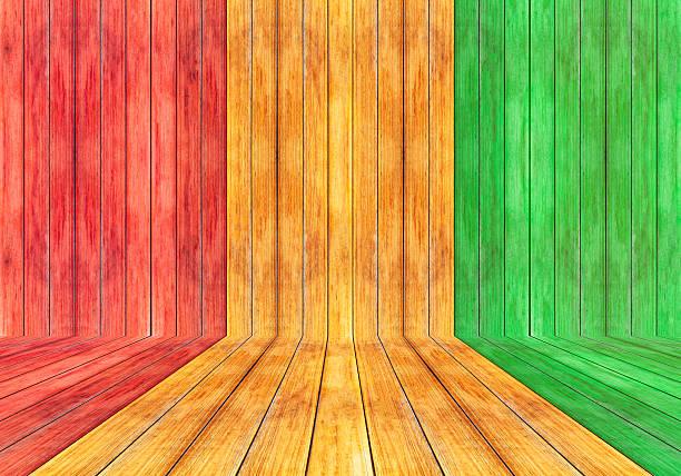 Reggae Farbe und Holz plank Hintergrund – Foto