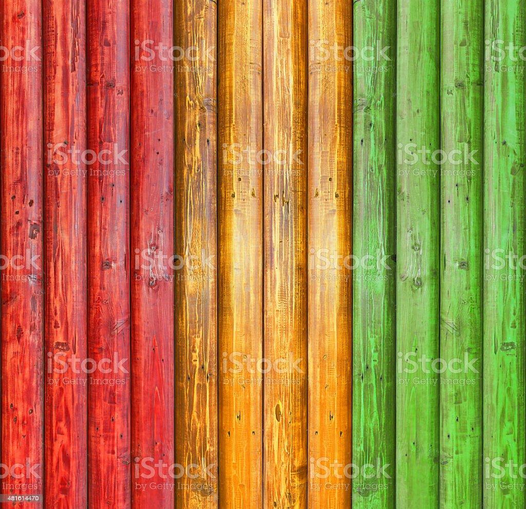 reggae colour and wood plank Background stock photo