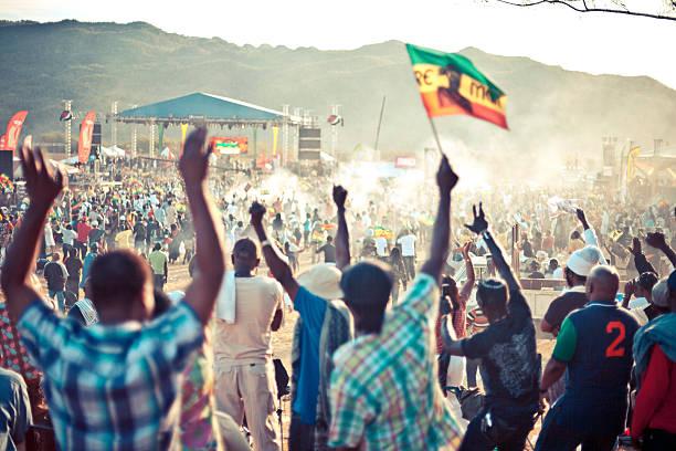 reggae festival crowd. - reggae stok fotoğraflar ve resimler