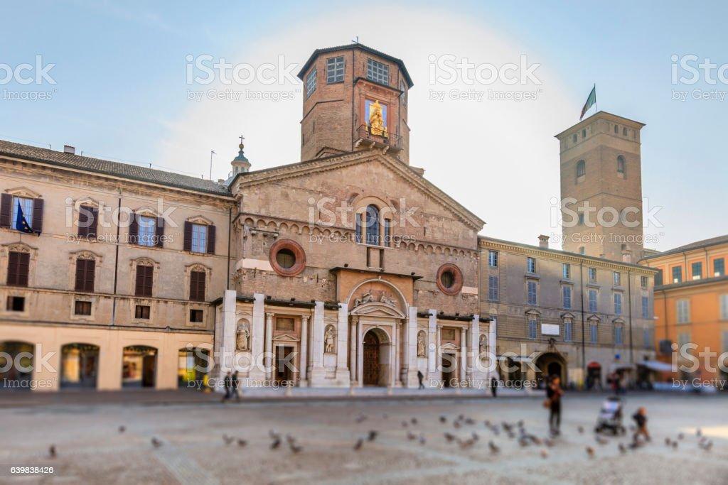 Reggio Emilia Piazza Prampolini Emilia Romagna Italy Stock