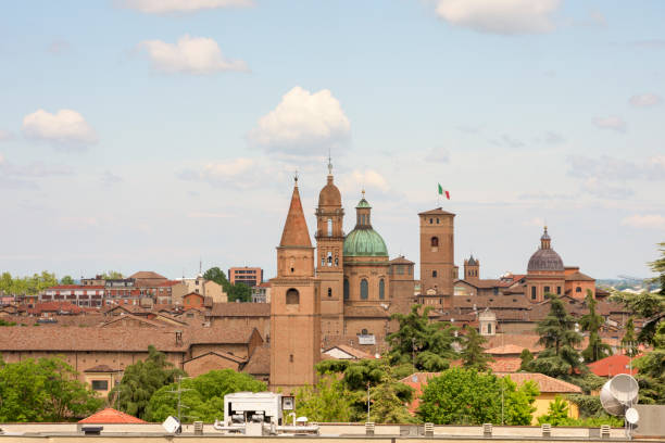 Reggio Emilia Skyline with Church Towers and Domes