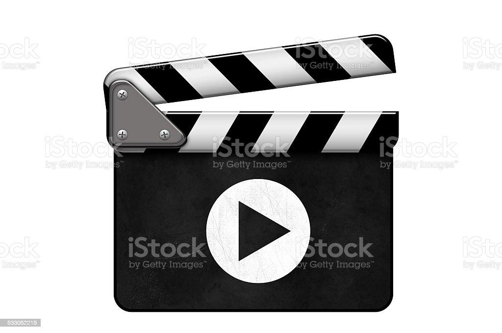 Regieklappe, Movie Clapper, Filmklappe, Play stock photo
