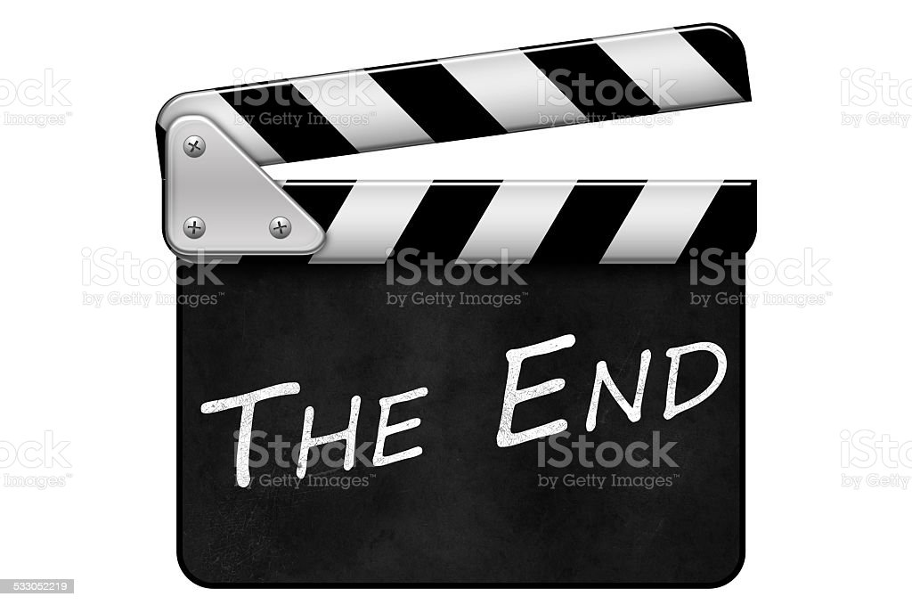 Regieklappe, Movie Clapper, Filmklappe, The End stock photo