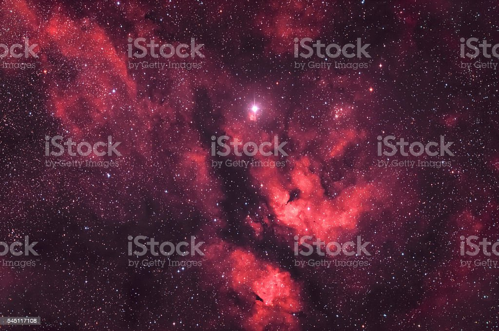 Region around the Star Sadr stock photo