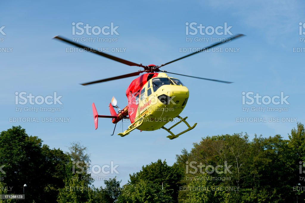 Region South Zealand's Air Ambulance Taking Off stock photo