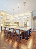 Beautiful Custom Kitchen with Island in Estate Home