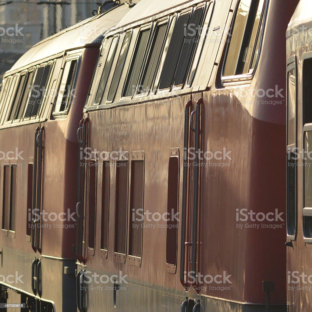 Regional Train departing Munich stock photo