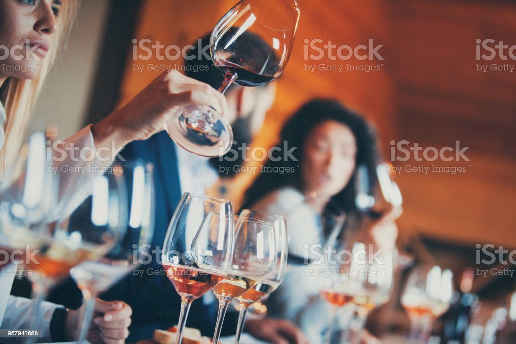 Regional wine competition stock photo