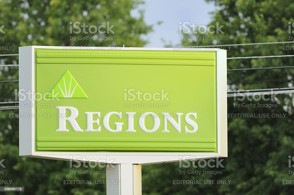 Regions bank sign royalty-free stock photo