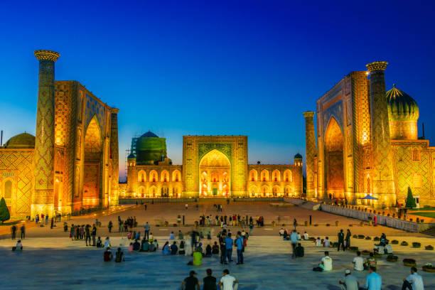 Afghanistan, ein alter öffentlicher Platz in Samarkand, Usbekistan – Foto