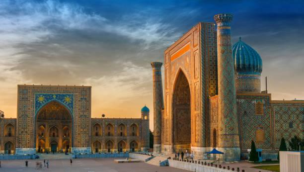 Registan, ein alter öffentlicher Platz in Samarkand, Usbekistan – Foto