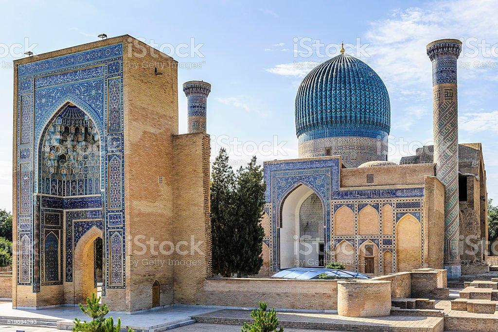 Registan, Samarkand, Uzbekistan Registan, the heart of the ancient city of Samarkand of the Timurid dynasty, now in Uzbekistan. Archaeology Stock Photo