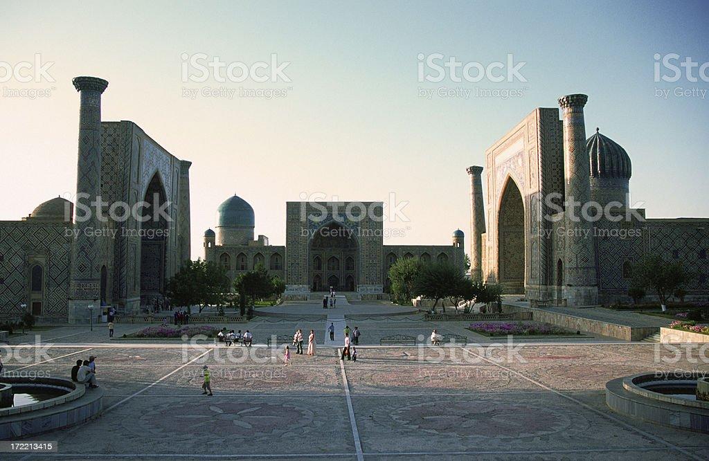 Registan Square, Samarkand. Uzbekistan stock photo