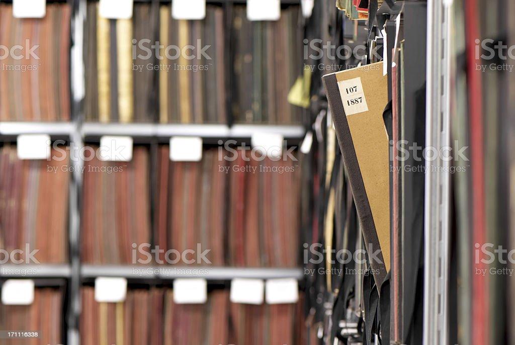 Register archive stock photo