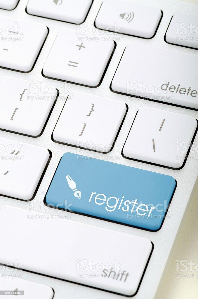 Register key concept royalty-free stock photo