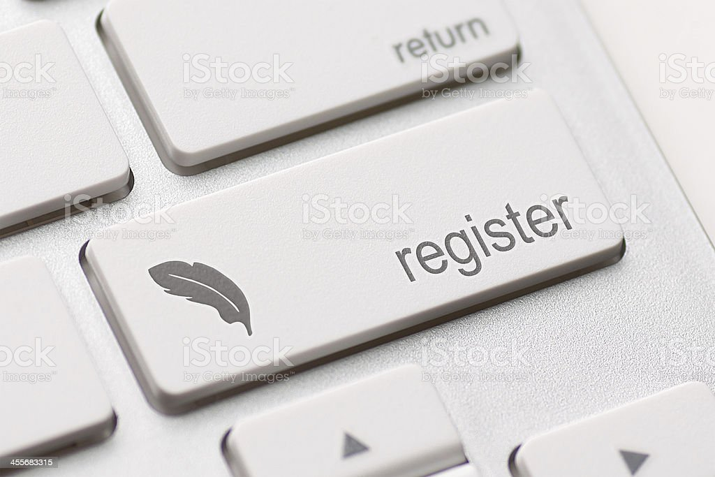Register key concept stock photo