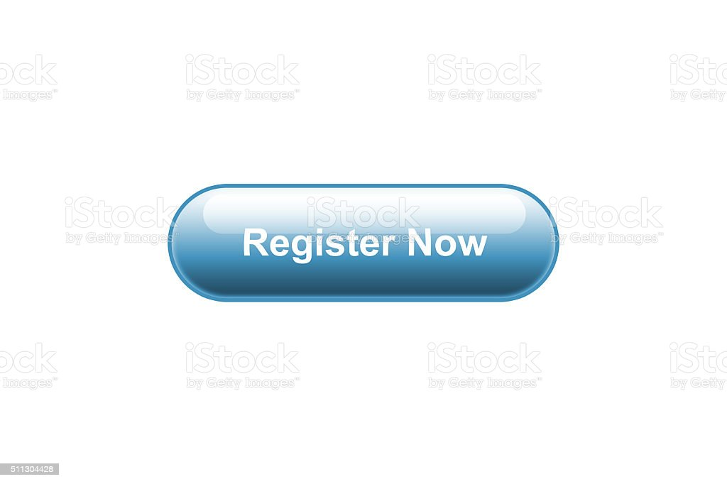 Register Now Button stock photo