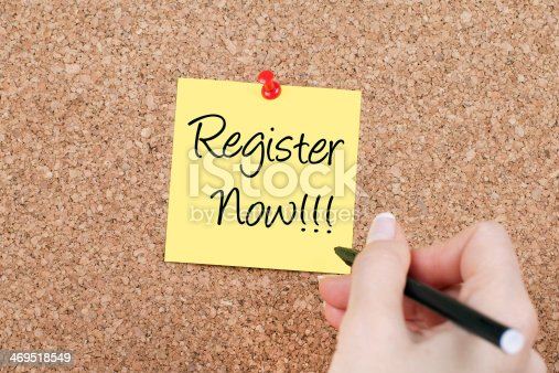 istock Register Now!!! 469518549