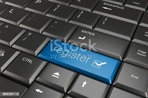istock Register online 869283118