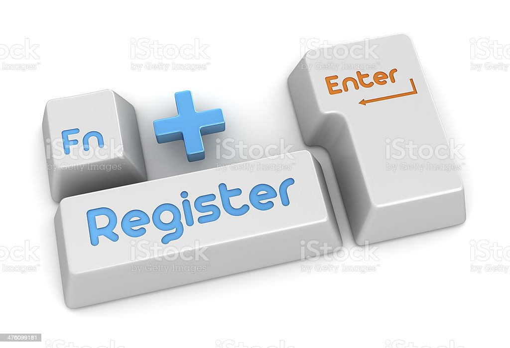 Register royalty-free stock photo