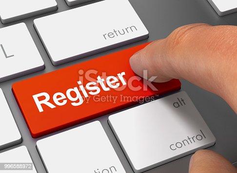 istock register pushing keyboard with finger 3d illustration 996588972