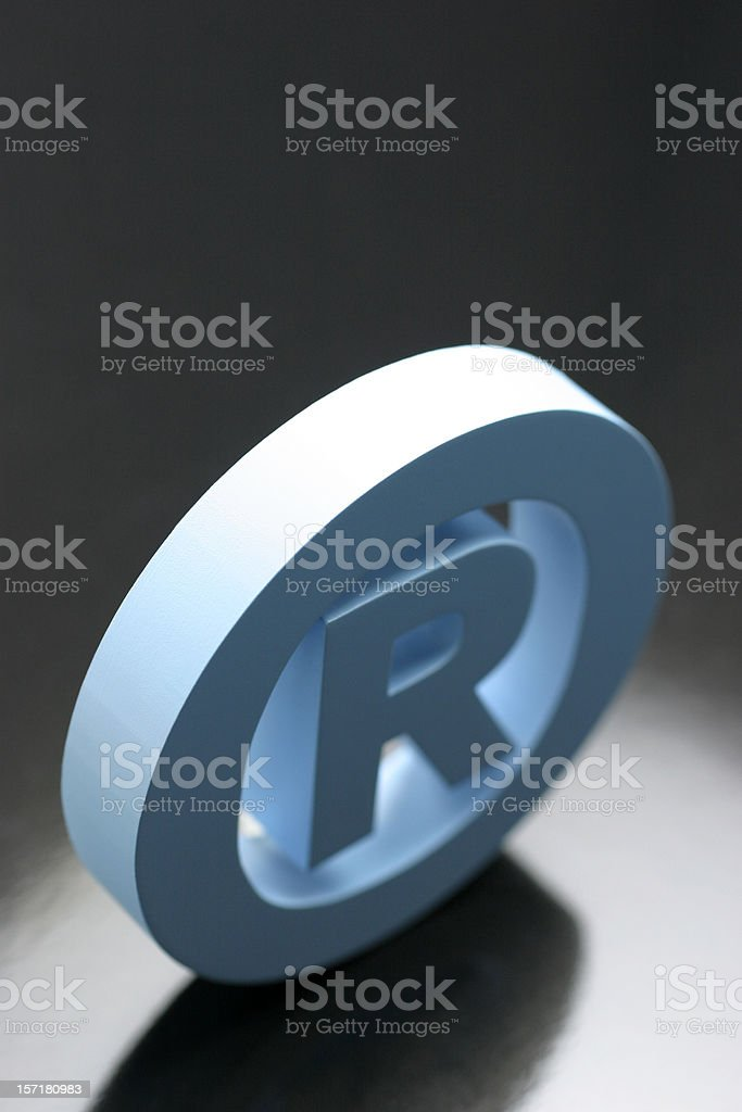 Registered Mark royalty-free stock photo