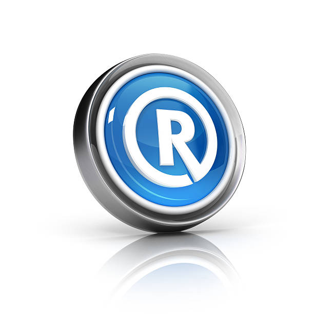 Registered sign Icon stock photo