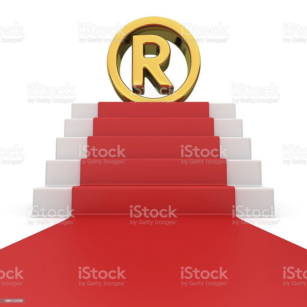 Registered sign on red carpet royalty-free stock photo