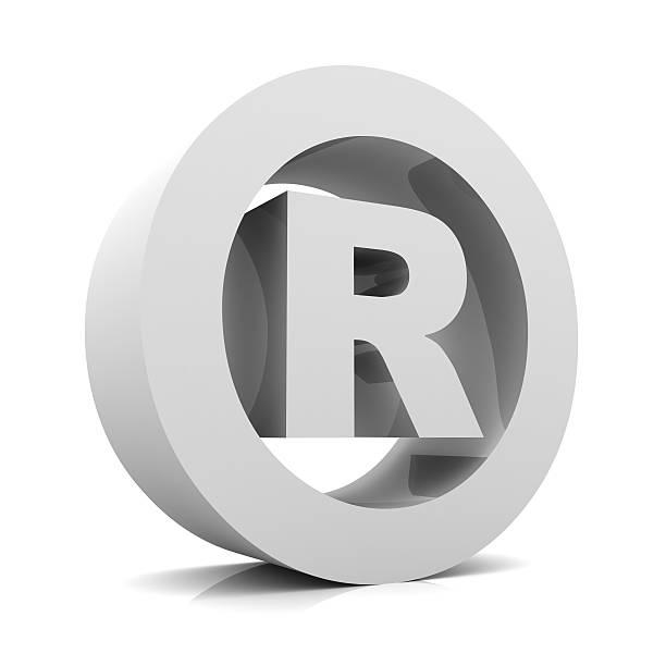registered symbol stock photo
