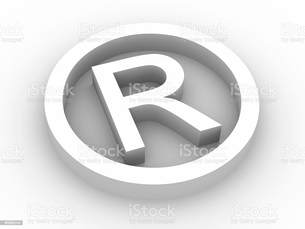 Registered symbol royalty-free stock photo