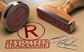 istock Registered Trademark Concept 1216089289