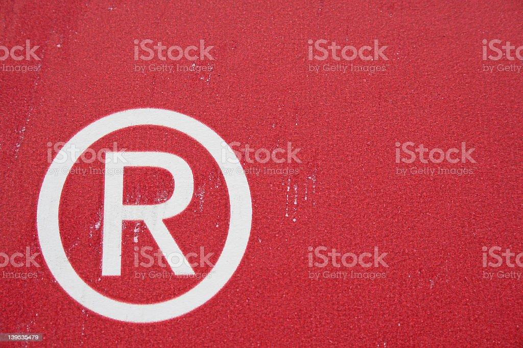Registered trademark stock photo