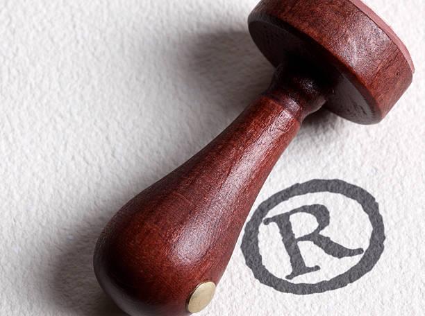 Registered trademark symbol stock photo