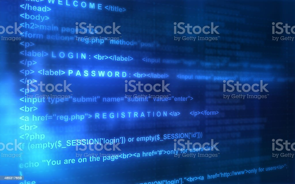 registration in the page stock photo
