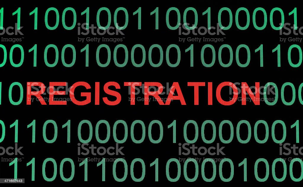Registration royalty-free stock photo