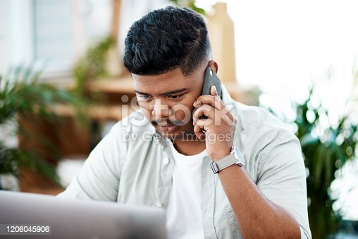 936117940 istock photo Regular client updates are just a phone call away 1206045906
