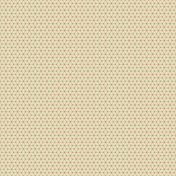 regular geometric shapes on background color beige - foto stock