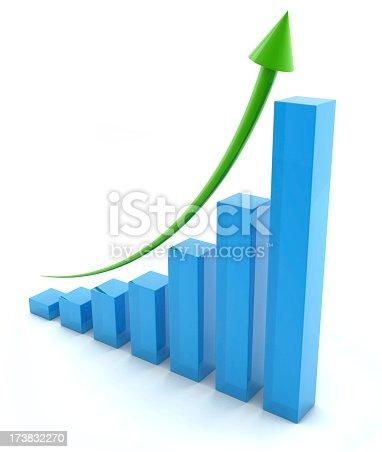 istock Regular upward trend on business graph 173832270