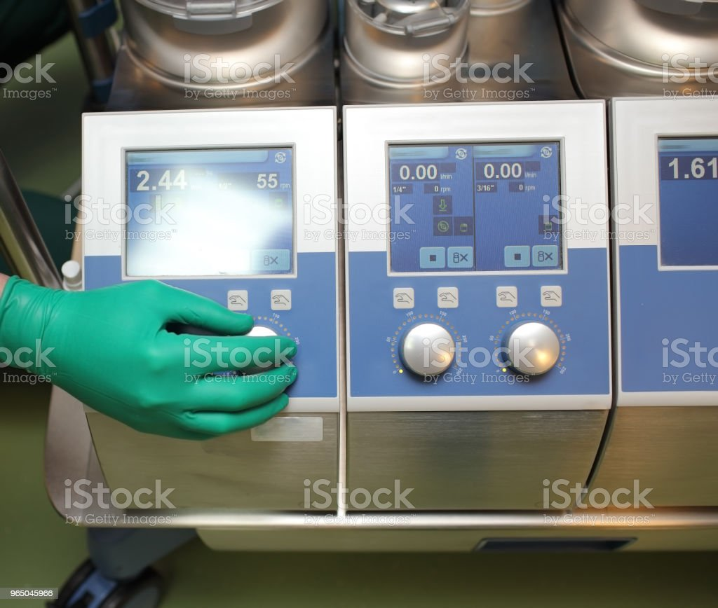 Regulating heart-lung machine in the operating room zbiór zdjęć royalty-free