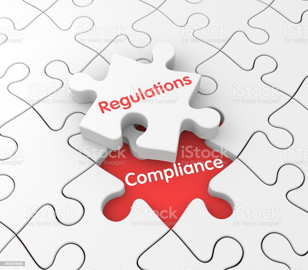 Regulations and Compliance stock photo