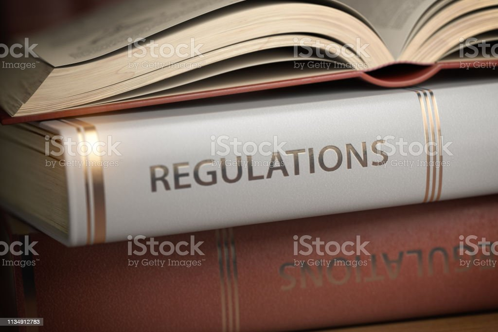 Regulations book. Law, rules and regulations concept. foto stock royalty-free