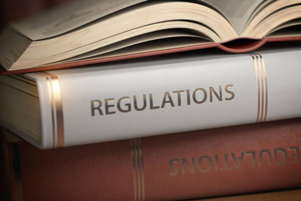 Regulations book. Law, rules and regulations concept. stock photo