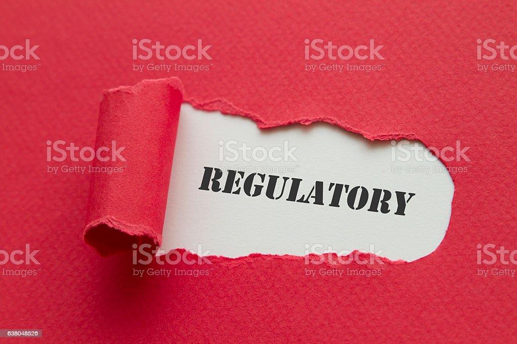 Regulatory stock photo