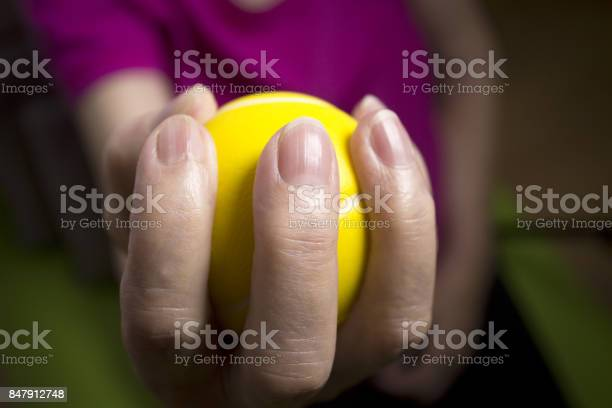 Rehabilitation Exercises For An Older Woman With Cerebral Stroke Stock Photo - Download Image Now