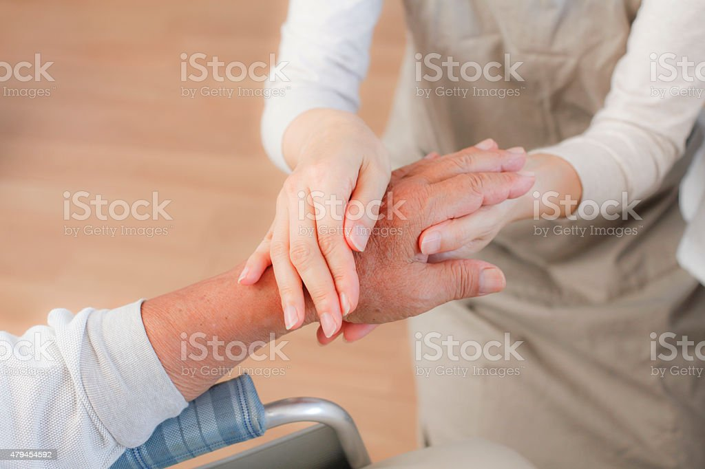 Rehabilitation of massage stock photo
