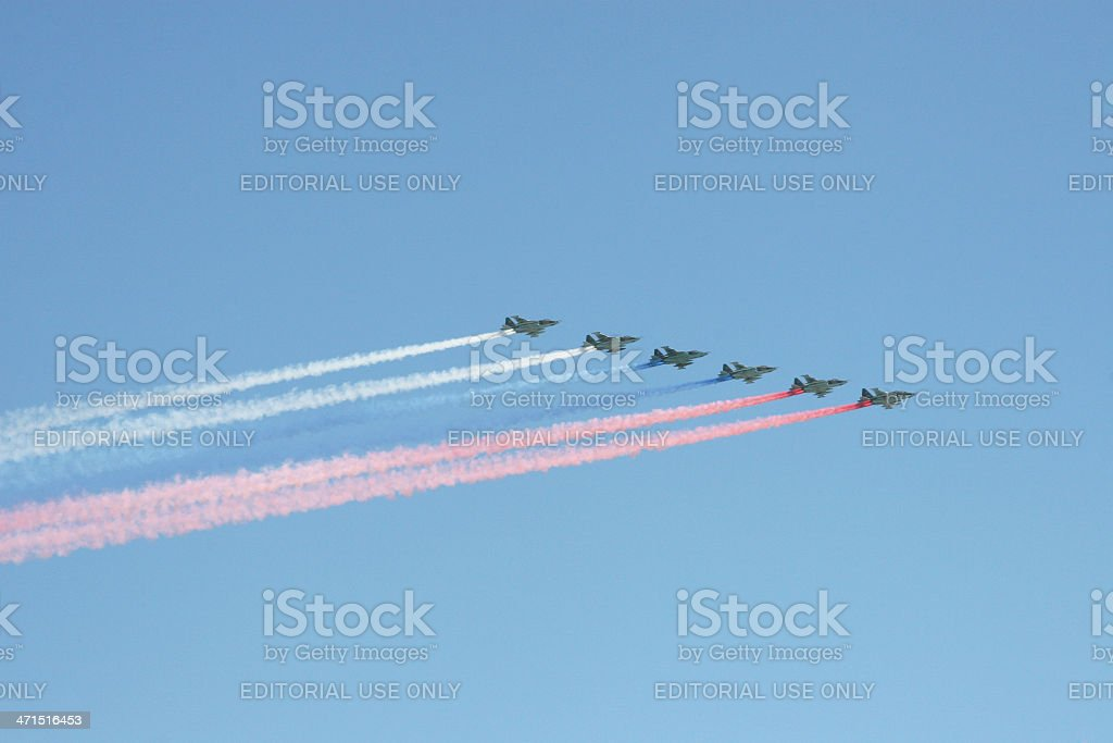 rehearsal for Air Force royalty-free stock photo