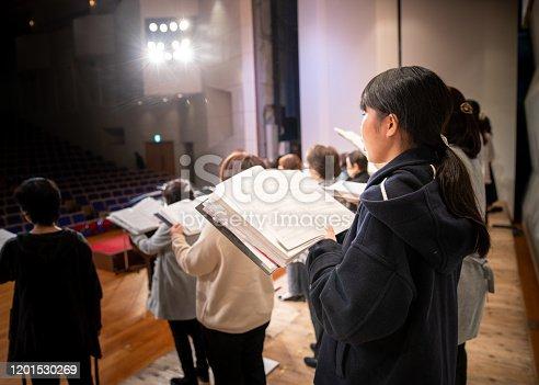 Rehearsal of women's chorus concert