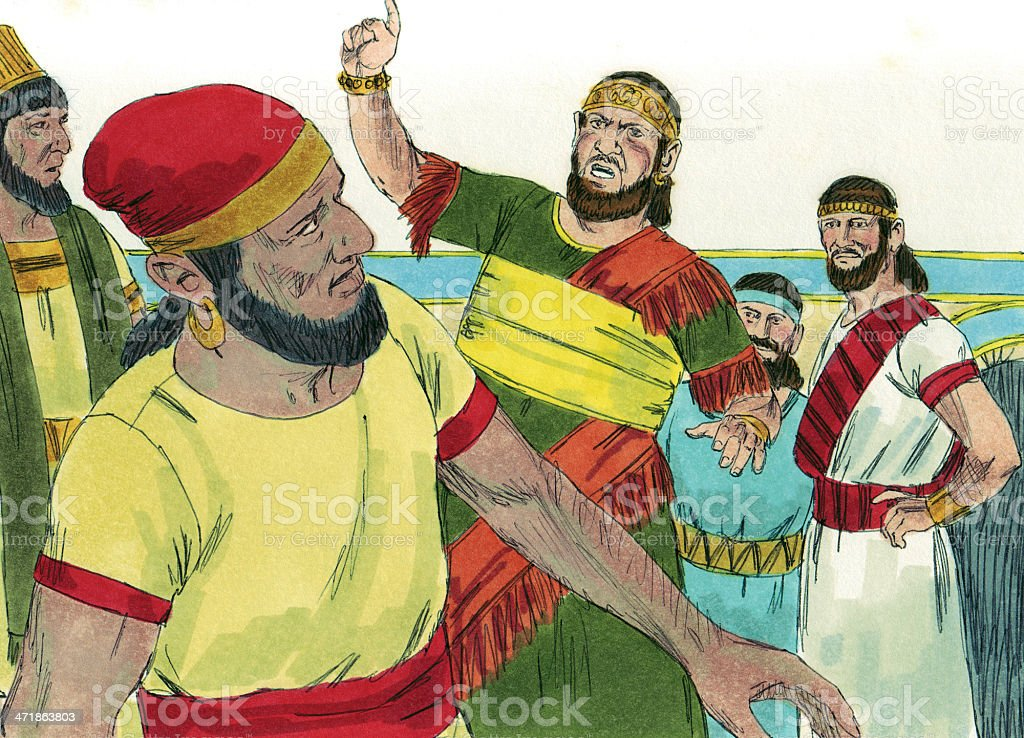 Rehoboam as King, Hears from People royalty-free stock photo